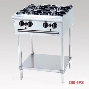 bếp công nghiệp, bếp âu bốn họng chân cao