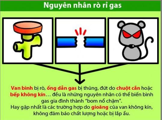 huong dan su dung gas an toan, an toan khi su dung ga o cac bep an cong nghiep