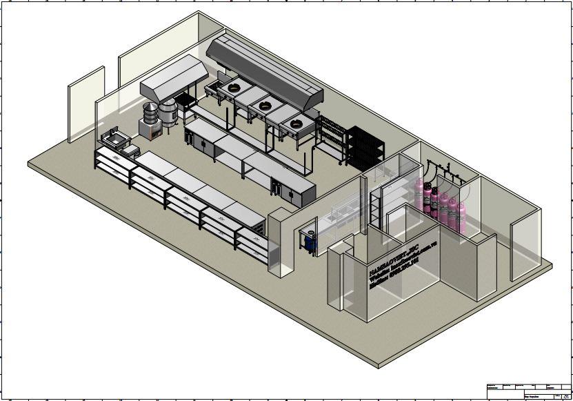 thiết kế bếp công nghiệp nhà hàng