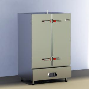 Tủ nấu cơm bằng gas 100kg, tu com gas